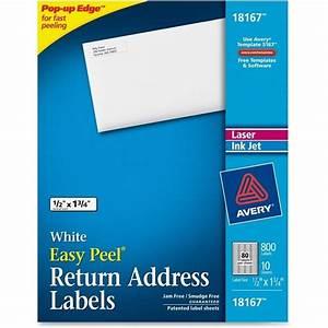 Avery laser inkjet return address labels set of 80 for Avery 80 up labels