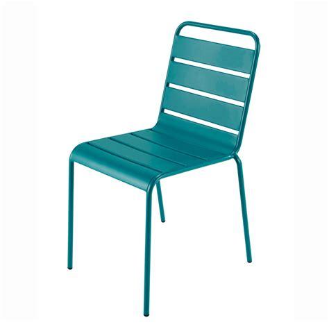 chaise de jardin bleu marine chaise de jardin en métal bleu canard batignolles
