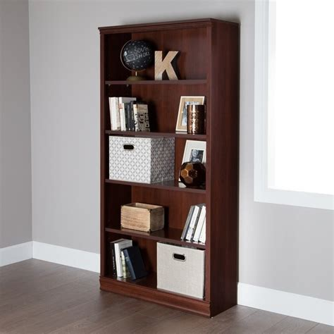 south shore 5 shelf bookcase south shore 5 shelf bookcase in royal cherry 10150