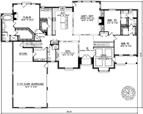 beautiful ranch style home plan ah architectural