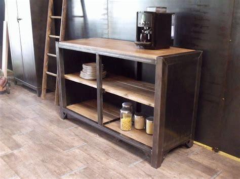 cuisine bois et metal meuble de rangement cuisine bois métal sur mesure