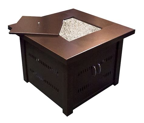 outdoor pit propane antique bronze finish table