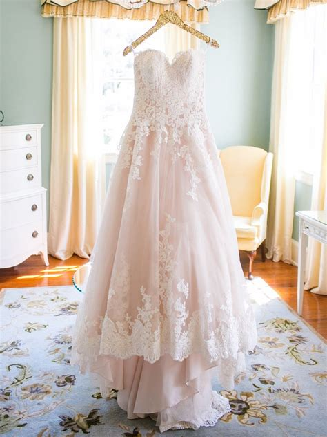 prettiest blush  light pink wedding gowns