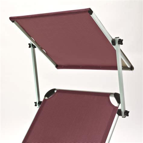 chaise longue avec pare soleil chaise longue transat avec pare soleil bordeaux quot colorado