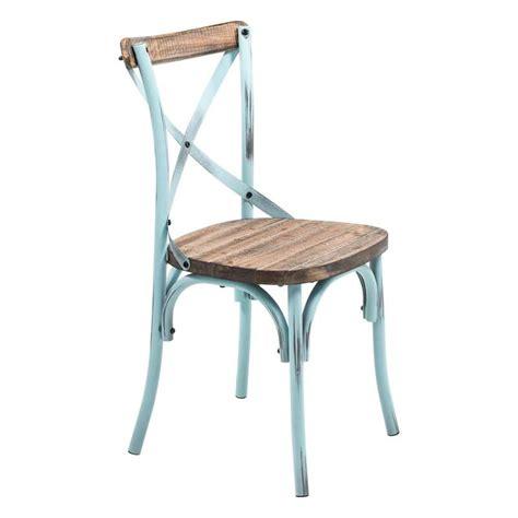 chaise haute design cuisine chaise bistrot vintage en bois et métal patiné madie 4 pieds tables chaises et tabourets