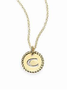 david yurman necklaces lysttm With david yurman diamond letter necklace