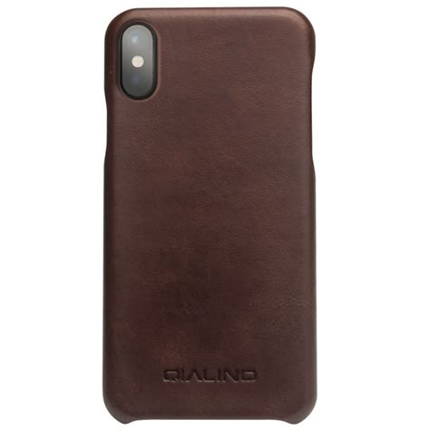 Cowhide Iphone by Qialino Cowhide Leather Phone For Iphone X Coated Pc