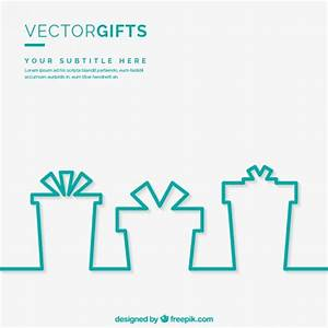 Gifts silhouettes template Vector | Free Download