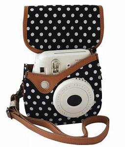 Amazon.com : Colorful Dots Spot Camera PU Leather Case Bag ...