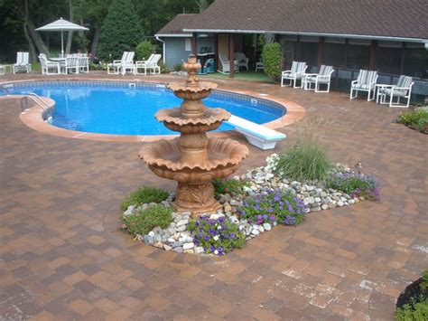 Beautiful Pool Deck W Pavers