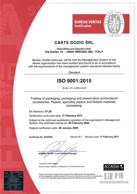 bureau certification certifications cartedozio