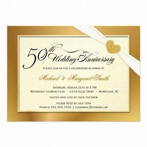 50th golden wedding anniversary invitations zazzle With 50th wedding anniversary invitation