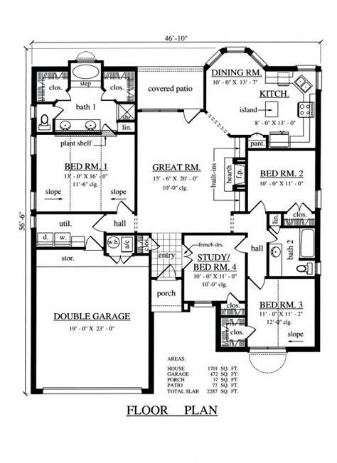 4 Bedroom 2 Bathroom Floor Plans house floor planner