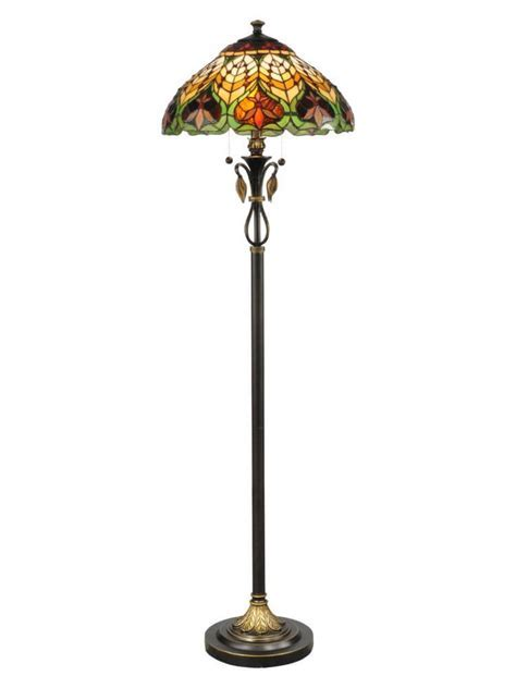 Dale Tiffany TF50012 Markus 2 Light Floor Lamps In Antique