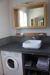 Petite Salle De Bain 3m2 : amenagement petite salle de bain machine a laver id es ~ Dailycaller-alerts.com Idées de Décoration