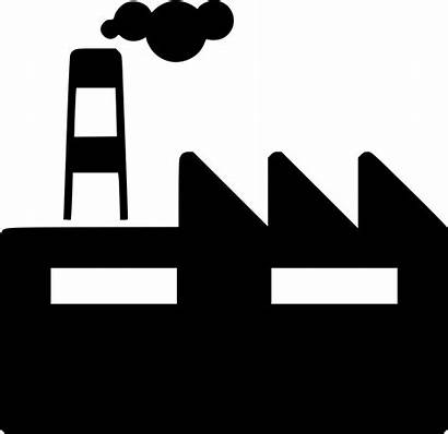 Icon Industry Clipart Business Svg Factory Industrial