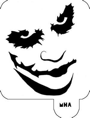 Mr. HAIR ART STENCIL - Joker Face