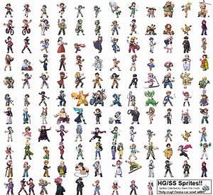 Pokemon HG-SS Trainer Sprites by Dann-The-Yoshi on DeviantArt