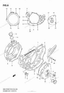 Suzuki Motorcycle 2007 Oem Parts Diagram For Crankcase
