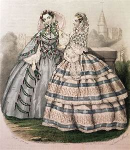 19th Century (Crinoline Period) Day dresses ruffles ...