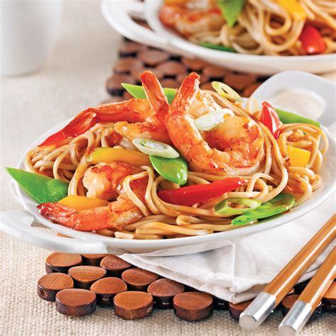 cuisine recettes pratiques crevettes lo mein recettes cuisine et nutrition pratico pratique
