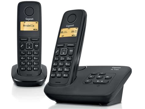 telephone interieur sans fil t 233 l 233 phone fixe sans fil duo gigaset al120a duo chez conforama