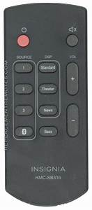 Buy Insignia Rmcsb316 Sound Bar System Remote Control