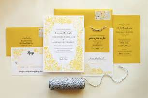 yellow wedding invitations adam 39 s yellow floral wedding invitations