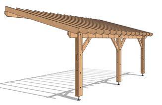plan pergola bois adossee pergola de boutique en ligne de structure bois en kit