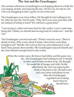 fable freebie the ant and the grasshopper education