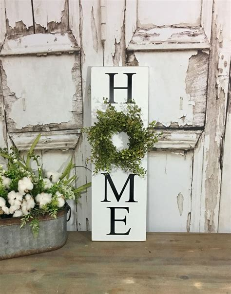 vertical home sign  wreath sign  wreath baby grass