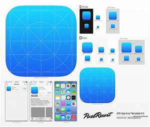app icon template photoshop action to automatically With iphone app logo template