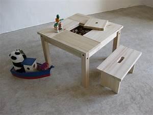 Table Enfant Avec Rangement : table enfant rangement table basse et pliante ~ Melissatoandfro.com Idées de Décoration