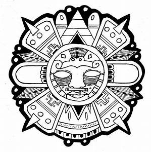 Gallery For > Aztec Sun | work in 2019 | Aztec drawing ...