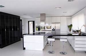 black and white kitchens and their elements With kitchen design black and white
