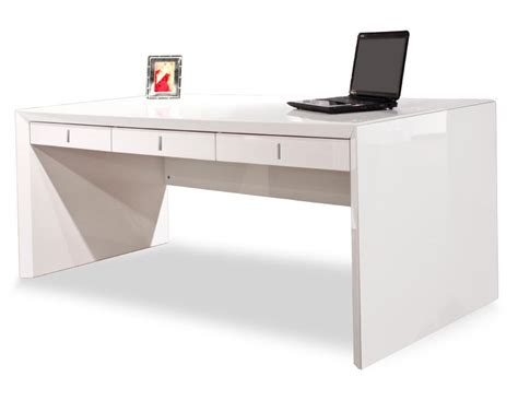 modern white desk with drawers ultra modern white lacquer executive desk with three
