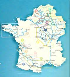 Map of France Rivers and Canals