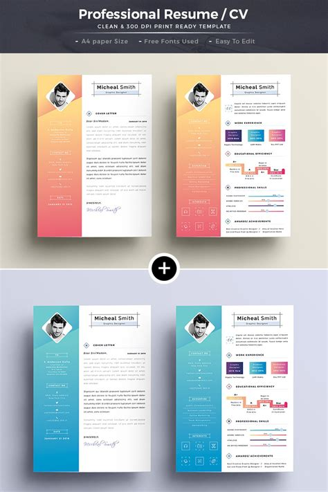 Creative Professional Resume Templates by Creative Professional Resume Template 66140