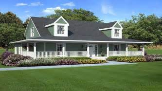 country ranch house plans with wrap around porch home - Country House With Wrap Around Porch