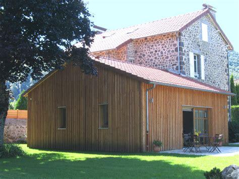 extension en bois d une maison extension ossature bois mhm clt