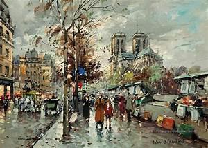 Peinture De Paris Poissy : ab notre dame les bouquinistes paris peinture tableau en vente ~ Premium-room.com Idées de Décoration