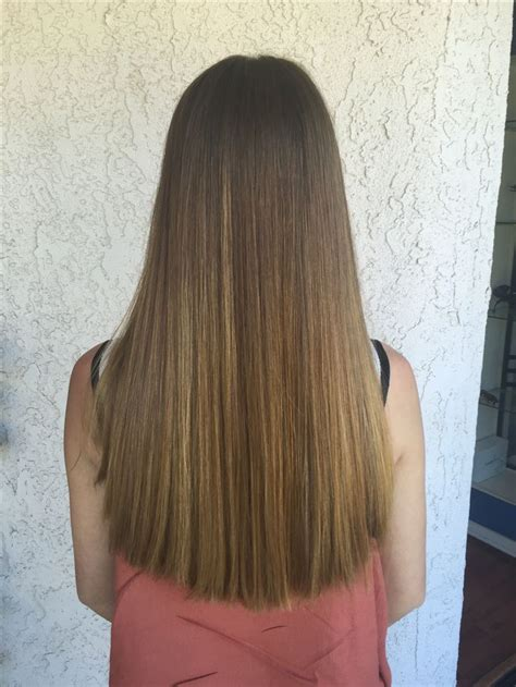 One Hair by One Length Haircut On Thick Hair My