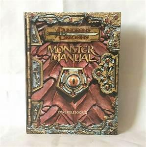 1st Print Dungeons  U0026 Dragons Monster Manual Core Rulebook