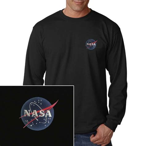 nasa meatball insignia embroidered sleeve t shirt t shirt s 3 colors ebay