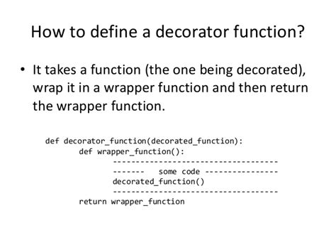 Decorators In Python - advanced python decorators