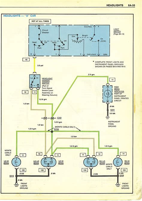 Headlight Dimmer Switch Wiring Diagram Chevy