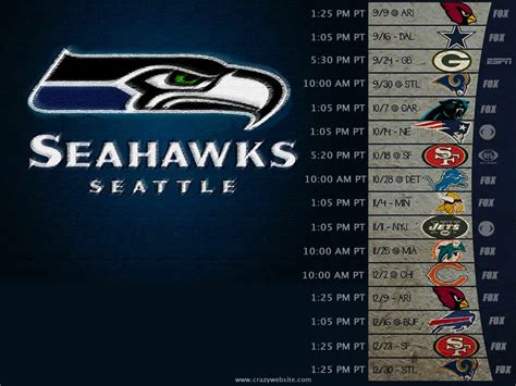 seattle seahawks schedule wallpaper wallpapersafari