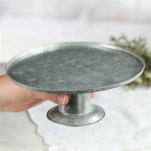 Small Galvanized Metal Cake Stand - Mini Kitchen Utensils