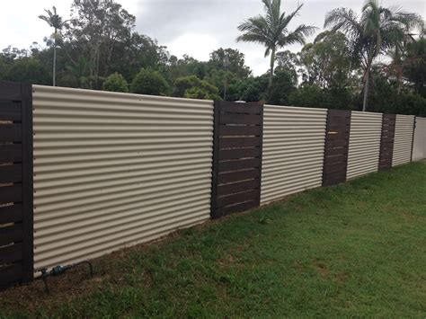 wood fence post corrugated metal fence panels imgkid com the image