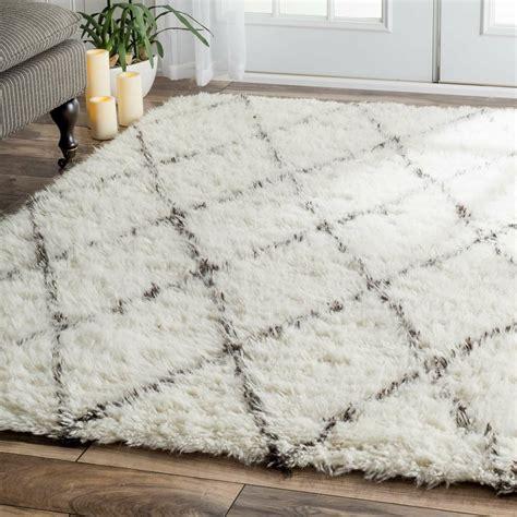 varick gallery simonds  whitebrown shag area rug